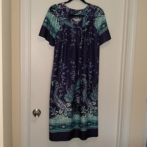 Anthony Richards navy blue floral house dress